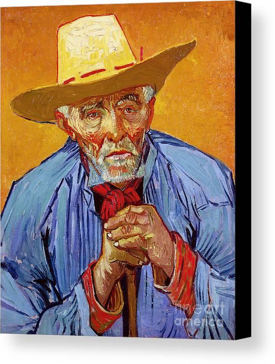 Portrait Canvas Print featuring the painting Portrait Of Patience Escalier by Vincent van Gogh
