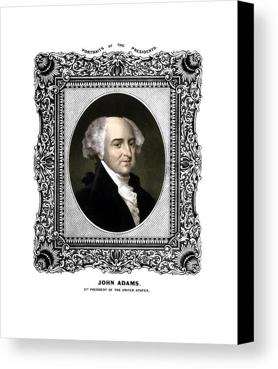 John Adams Canvas Print featuring the painting President John Adams Portrait by War Is Hell Store