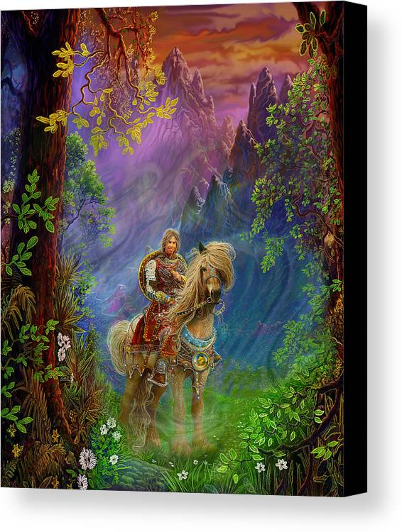 Fantasy Canvas Print featuring the painting Prince Charming by Steve Roberts