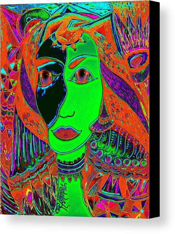 Queen Of The Nile Canvas Print featuring the painting Queen Of The Nile by Natalie Holland