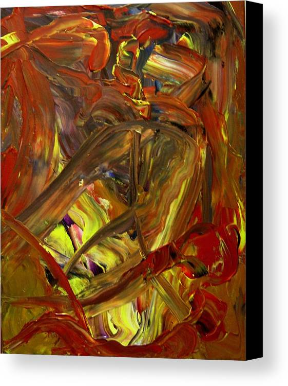 Abstract Canvas Print featuring the painting Ripe Reverence by Karen L Christophersen