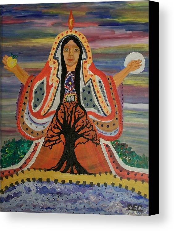 Sacred Canvas Print featuring the painting Sacred Feminine by Carolyn Cable