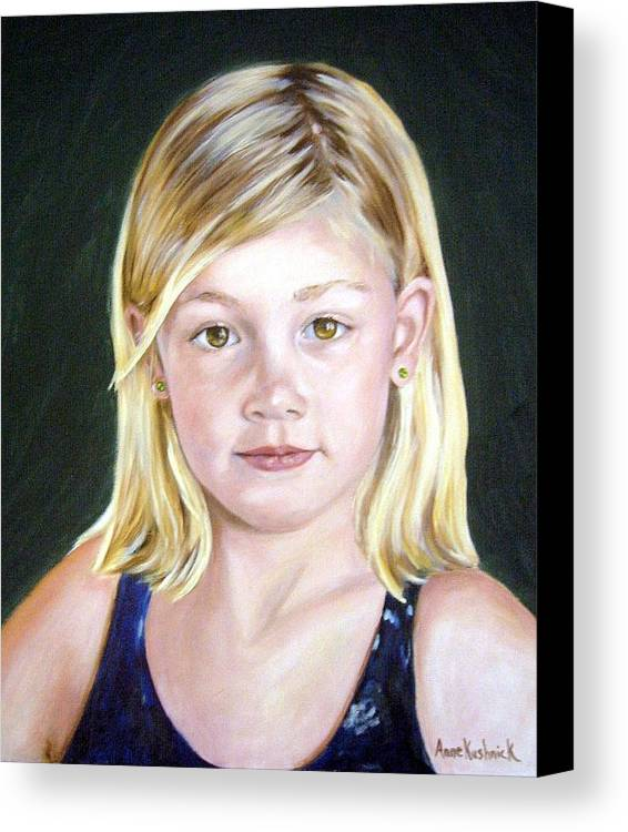 Portrait Canvas Print featuring the painting Shannon by Anne Kushnick