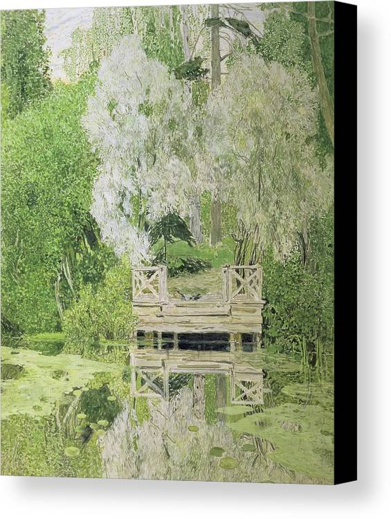 Silver Canvas Print featuring the painting Silver White Willow by Aleksandr Jakovlevic Golovin