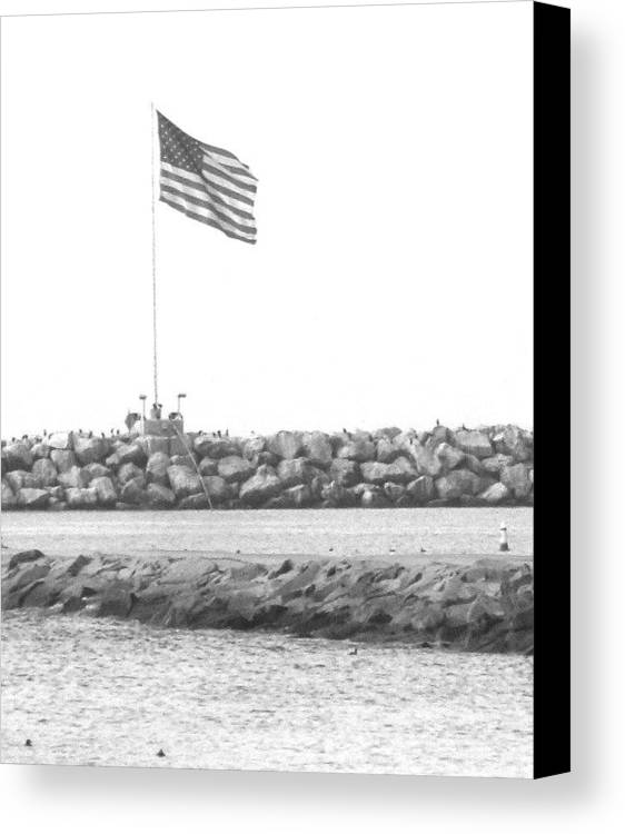 Flag Canvas Print featuring the photograph Stands Alone by Shari Chavira