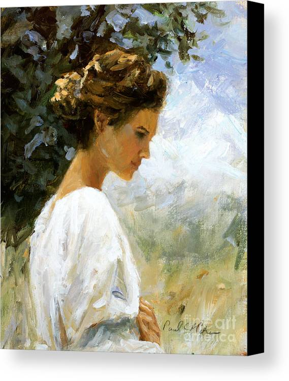 Impressionism Canvas Print featuring the painting Summer Sun by Paul Milner
