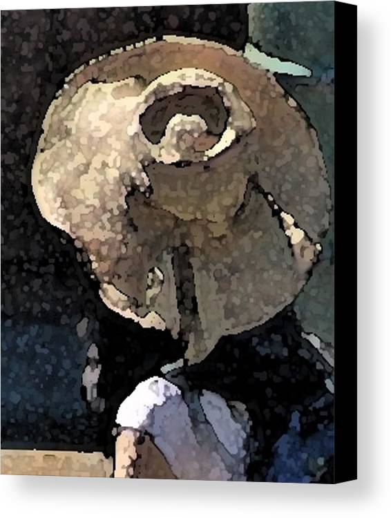 Hat Canvas Print featuring the painting Sunhat by Ken Barker