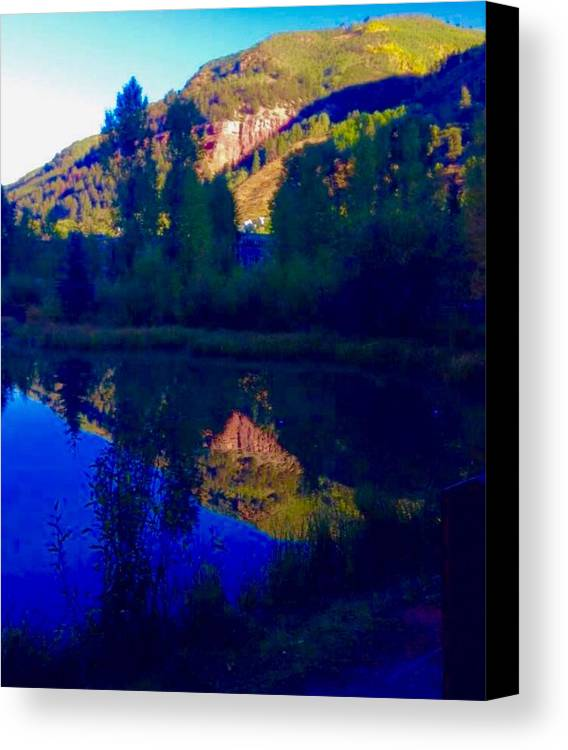 Telluride Canvas Print featuring the photograph Telluride Town Park by Camilla Hale