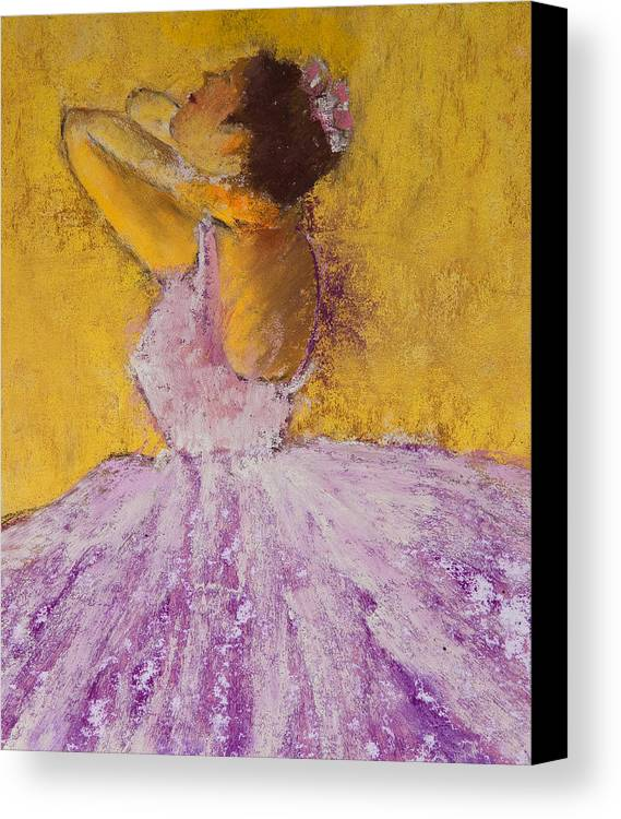 Pastel Canvas Print featuring the painting The Ballet Dancer by David Patterson