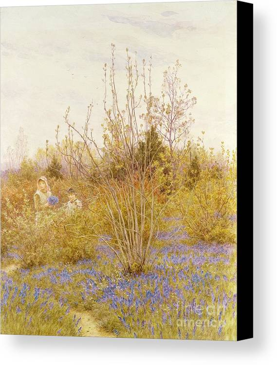 The Canvas Print featuring the painting The Cuckoo by Helen Allingham