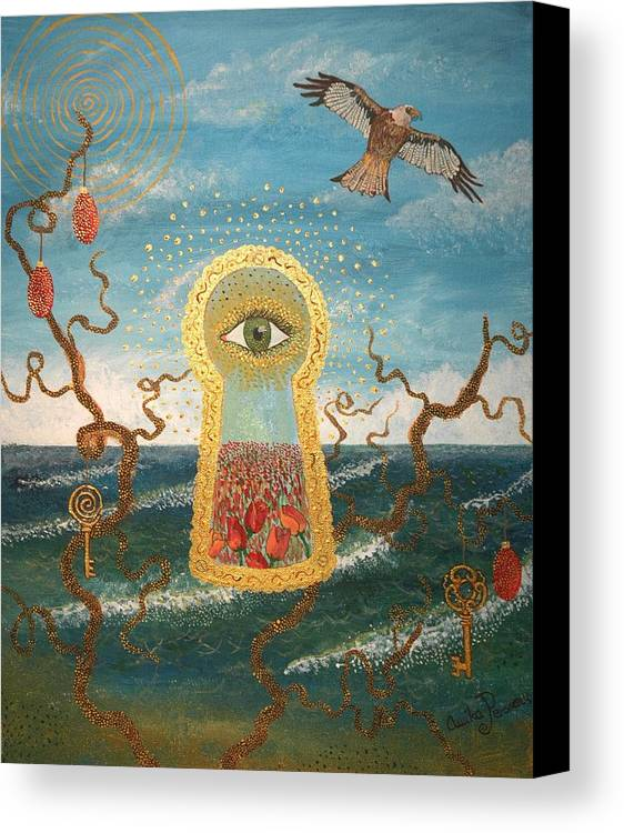 Eye Canvas Print featuring the painting The Gateway. by Annika Persson