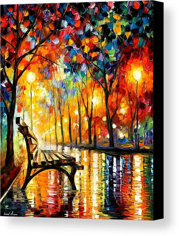 Afremov Canvas Print featuring the painting The Loneliness Of Autumn by Leonid Afremov