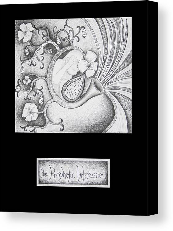 Christian Art Canvas Print featuring the drawing The Prophetic Intercessor by Amy Parker