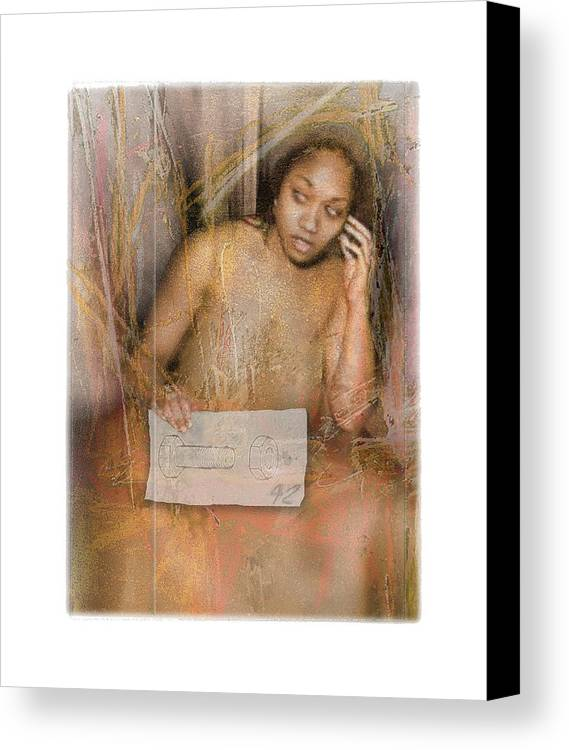 Portrait Canvas Print featuring the digital art The Wading by Nuff