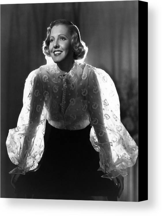 1930s Movies Canvas Print featuring the photograph The Whole Towns Talking, Jean Arthur by Everett