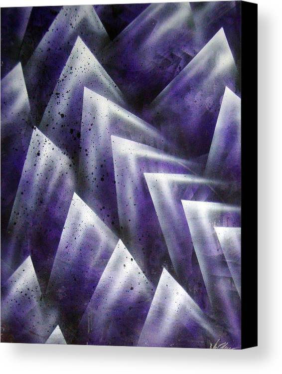 Organic Canvas Print featuring the painting Upward by Leigh Odom