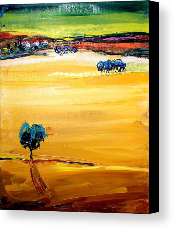 Artwork Canvas Print featuring the painting Village by Maya Green