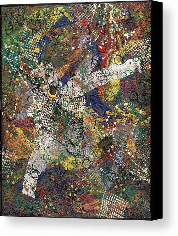 Abstract Canvas Print featuring the painting Ville Et Ceremonie by Dominique Boutaud