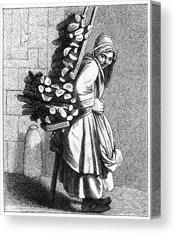 1740 Canvas Print featuring the painting Parisian Street-crier, C1740 by Granger