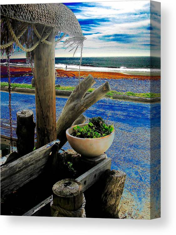 Creative Canvas Print featuring the digital art Crystal Cove Laguna Beach by David Murphy