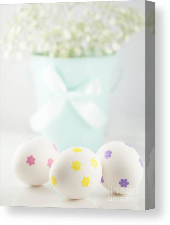 Baby's Breath Canvas Print featuring the photograph Easter Eggs by Juli Scalzi