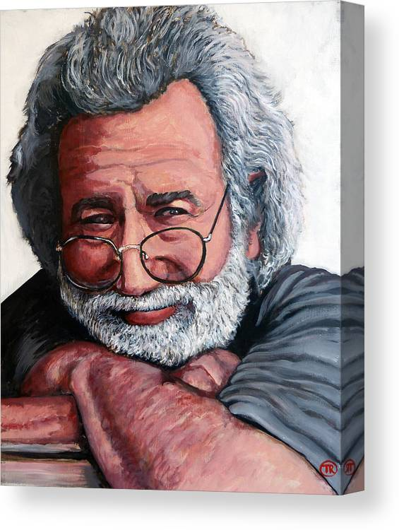 Jerry Canvas Print featuring the painting Jerry Garcia by Tom Roderick