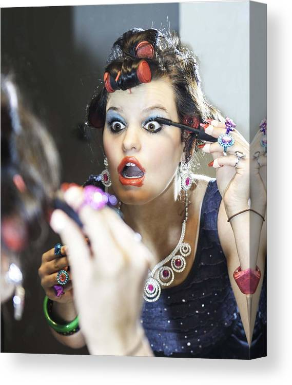 Makeup Canvas Print featuring the photograph Makeup by Shelby Hall