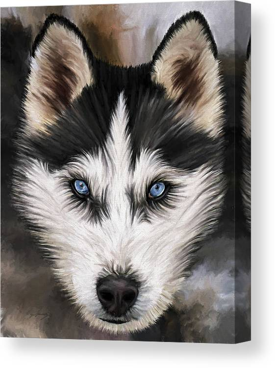 Dog Art Canvas Print featuring the painting Nikki by David Wagner