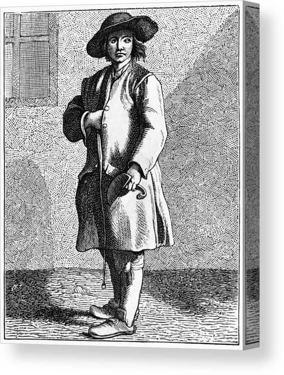 1740 Canvas Print featuring the painting Paris Chimney Sweep, C1740 by Granger