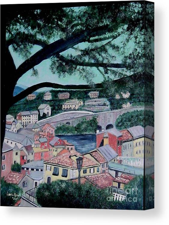 Italy Canvas Print featuring the painting Sestri Levante by Laurie Morgan