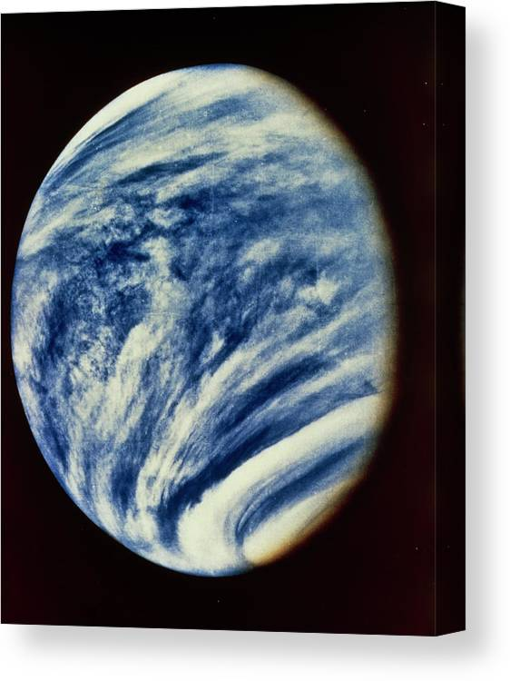 Ultraviolet Astronomy Canvas Print featuring the photograph Ultraviolet Photo Taken By Mariner 10 by Nasa/science Photo Library.