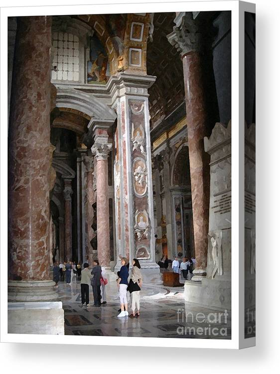 Italy Canvas Print featuring the painting Vatican Interior by Victor Milt