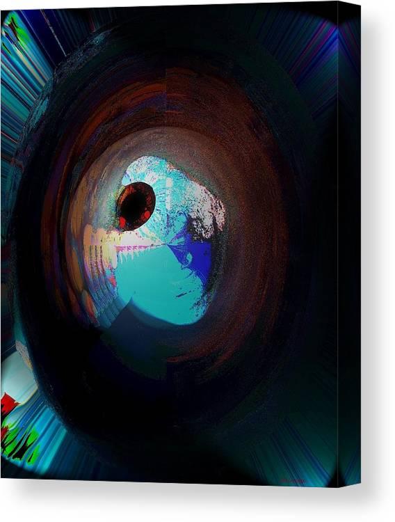 Fantasy Canvas Print featuring the digital art Cosmic Eye by Ines Garay-Colomba