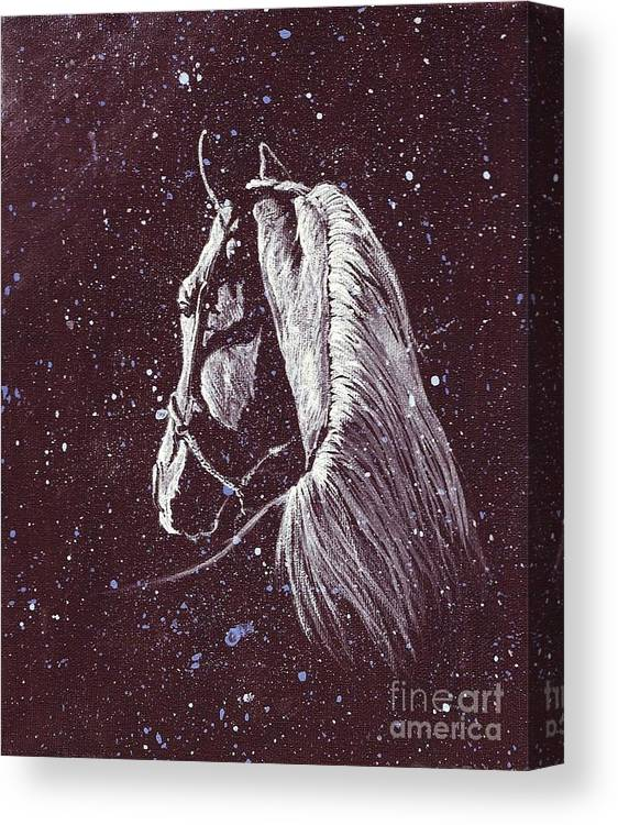Arabian Canvas Print featuring the painting Starlight Serenade by Angela Marks