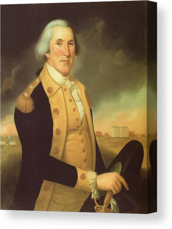 picture relating to Printable Pictures of George Washington identify In general George Washington Canvas Print