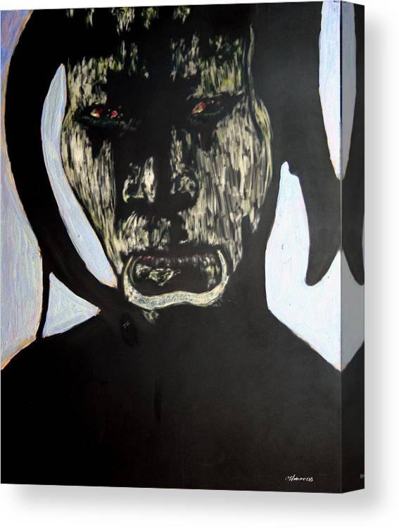 Canvas Print featuring the mixed media Avenging Angel by Chester Elmore