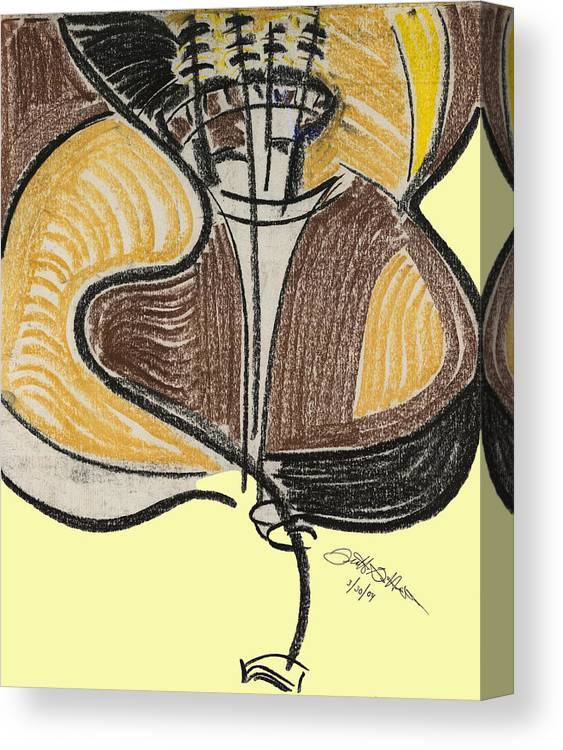 Bass Canvas Print featuring the pastel Broken Bass Dyptic 2 by Diallo House