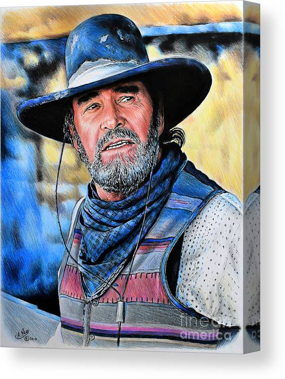 4bede0ea3e0 James Garner Canvas Print featuring the drawing Captain Woodrow F Call by  Andrew Read