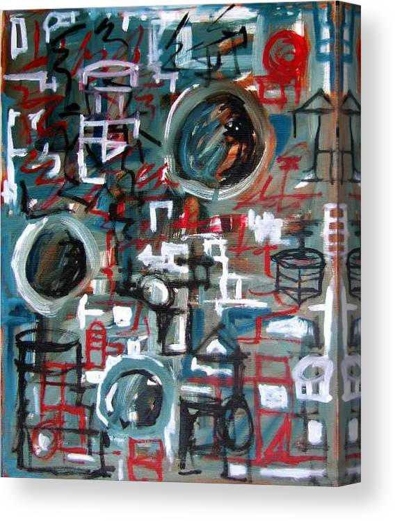 Abstract Canvas Print featuring the painting Composition No 9 by Michael Henderson