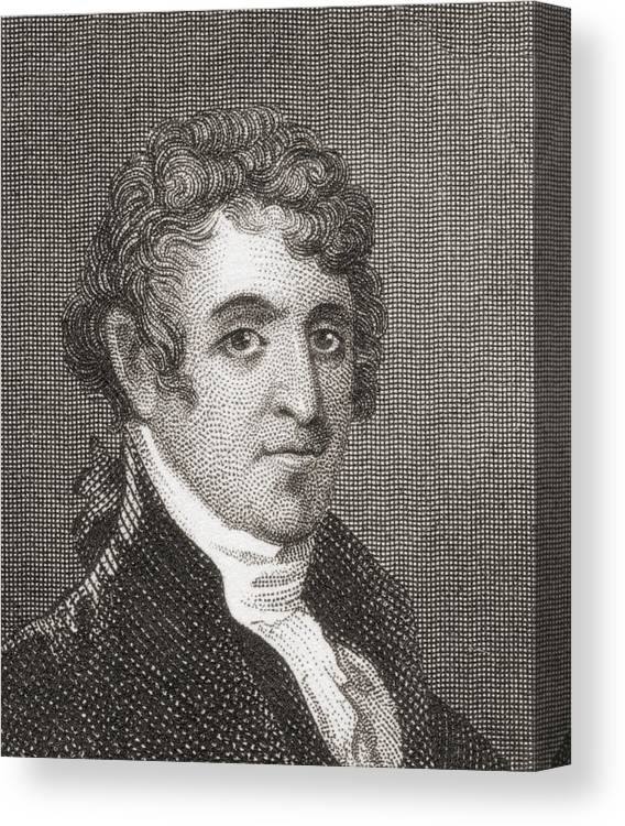 Portrait Canvas Print featuring the drawing David Humphreys,1752 To 1818 by Vintage Design Pics