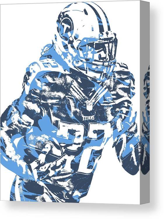 9dfe9920 Derrick Henry Tennessee Titans Pixel Art 14 Canvas Print