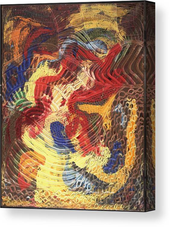 Abstract Canvas Print featuring the painting Devant by Dominique Boutaud