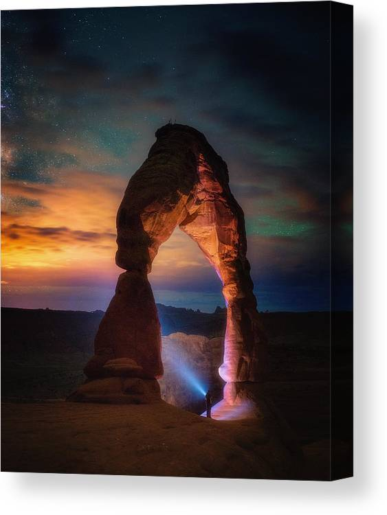 Arches Canvas Print featuring the photograph Finding Heaven by Darren White