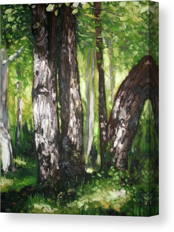 Trees Canvas Print featuring the painting Homage To Renoir by Keith O Rahilly
