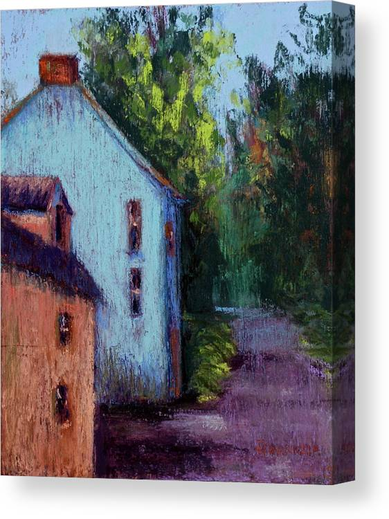 County Cork Canvas Print featuring the pastel Houses In Ireland by Joyce A Guariglia