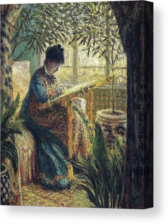Mosaic Canvas Print featuring the digital art Image 348 Claude Oscar Monet by Eloisa Mannion