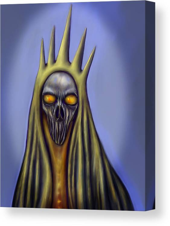 Monster Canvas Print featuring the digital art Lich by Scott Smith