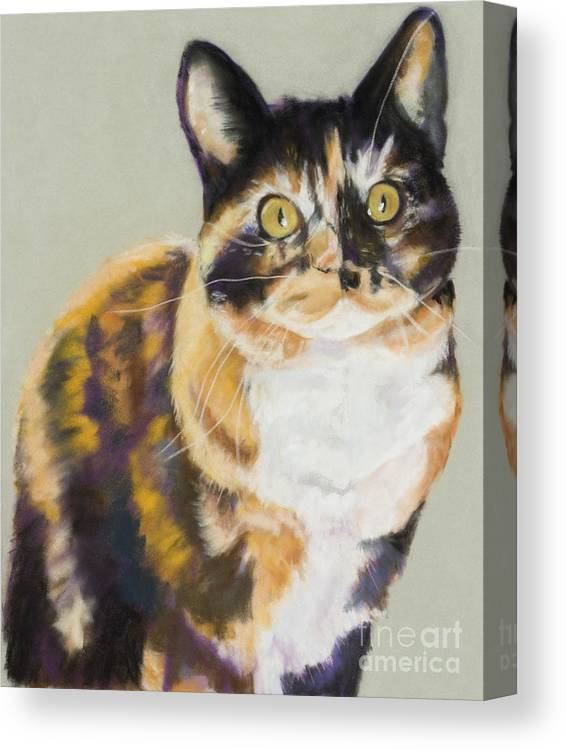 Calico Canvas Print featuring the painting Maggie Mae by Pat Saunders-White
