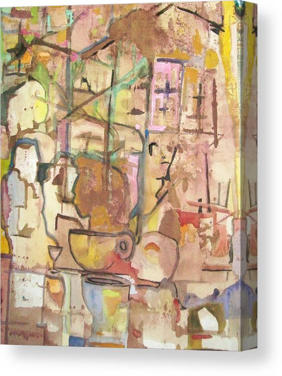 Abstract Canvas Print featuring the painting Mezzo Four by James Christiansen
