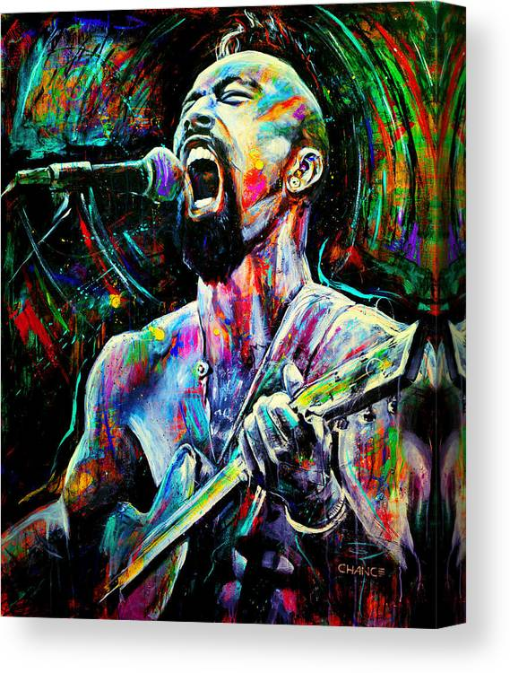 Robyn Chance Canvas Print featuring the painting Nahko by Robyn Chance